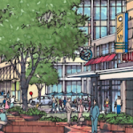 Rendering of Waverly Development in south Charlotte