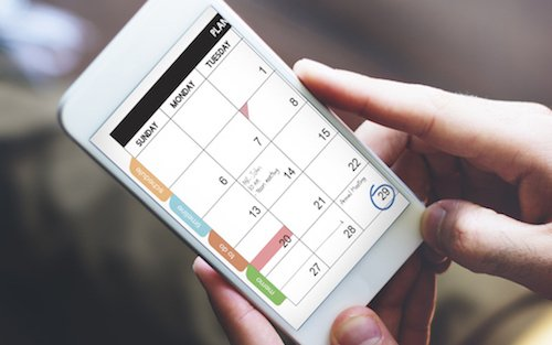 Calendar on phone