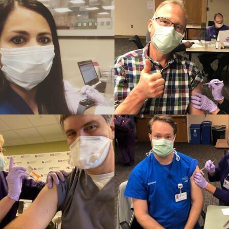 Horizon Eye Care doctors get the COVID-19 vaccine